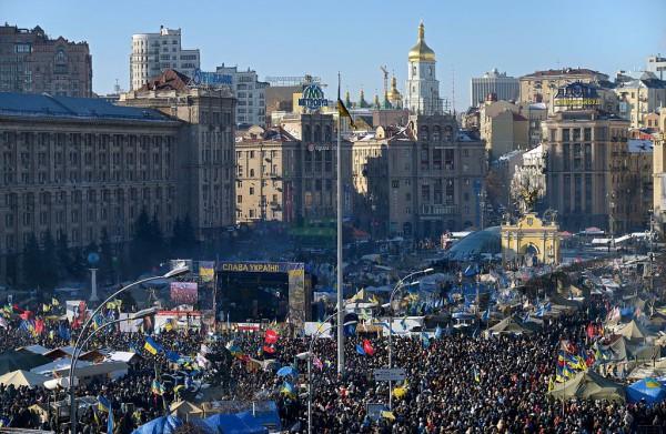 Митинг на Майдане в феврале 2014