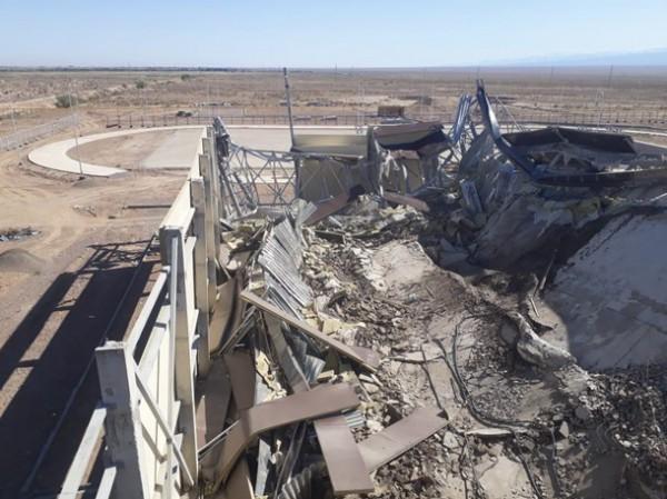 Обрушение строящегося стадиона в Казахстане