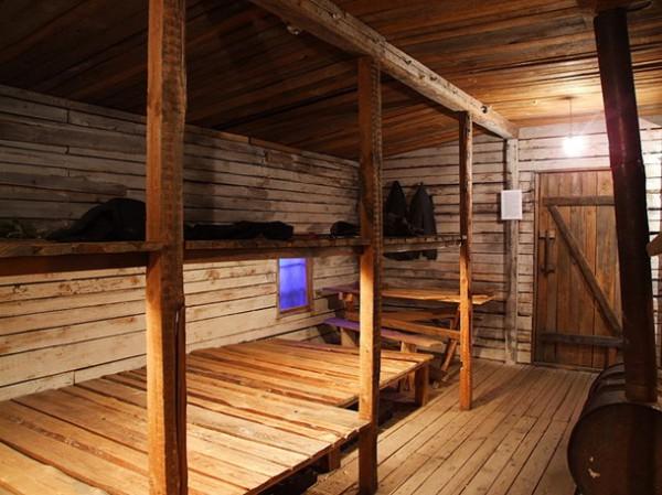 Реконструкция камеры лагерей ГУЛАГа в Музее истории окупации Латвии