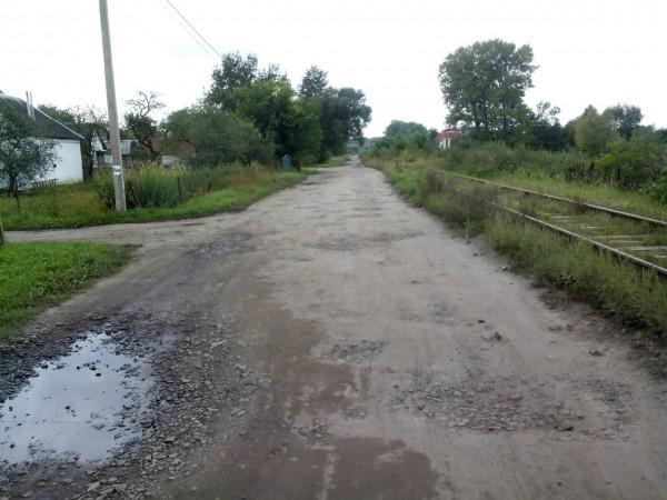 Линия в селе Рясное-Руськое проходит совсем близко к домам