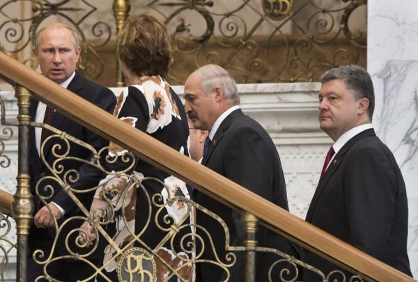 Путин, Эштон, Лукашенко и Порошенко в Минске