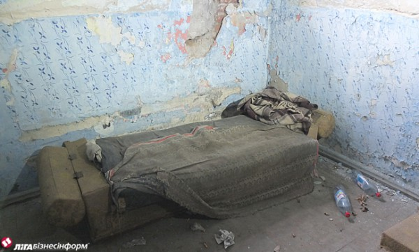 Здесь спали пленные