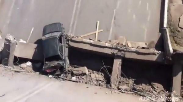 Ночью в Горловке подорвали мост по улице Бориса Макухи