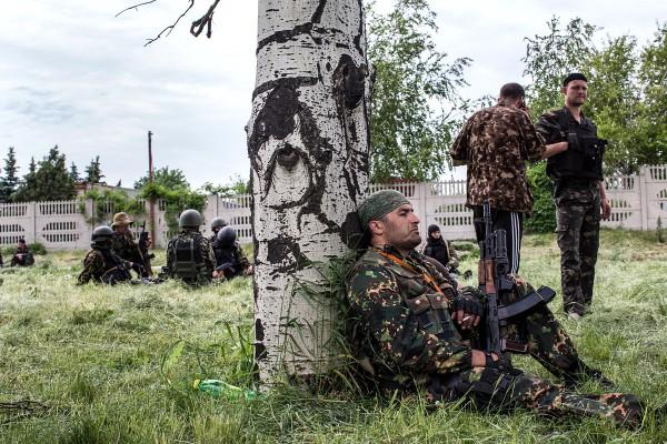 Террористы отдыхают после боя