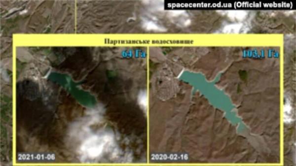 Спутниковые фото водоемов Крыма