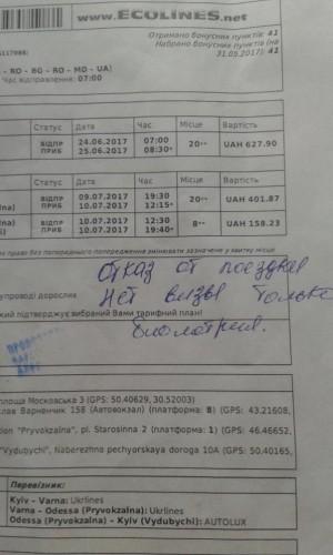 Перевозчик Ecolines якобы отказался везти украинцев без визы