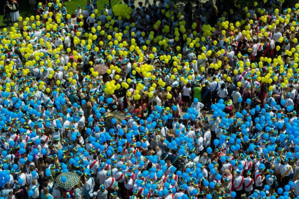 Участники флешмобы выстроятся в фигуру карты Украины