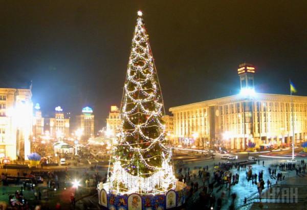 Новогодняя елка в 2002 году