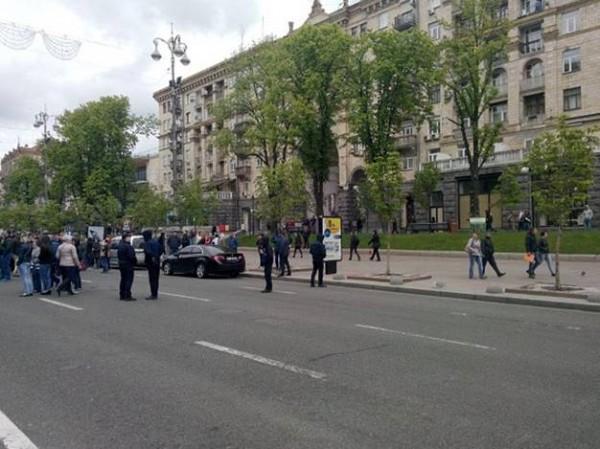 В центре Киева произошла драка