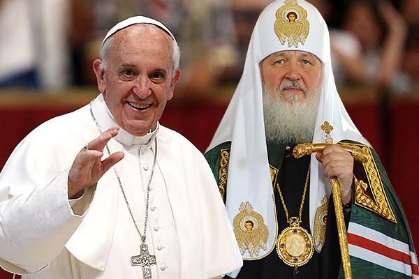 Картинки по запросу папа римский патриарх кирилл