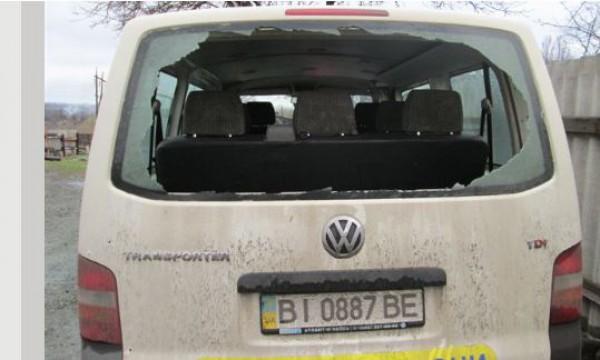 Расстрелянный боевиками Фольксваген охранной фирмы