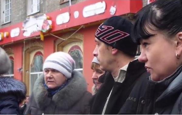 Мирные жители Донецка