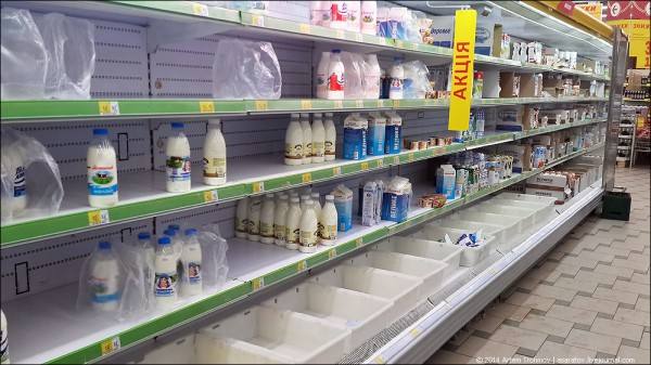 Многие товары в Крыму стали дефицитными