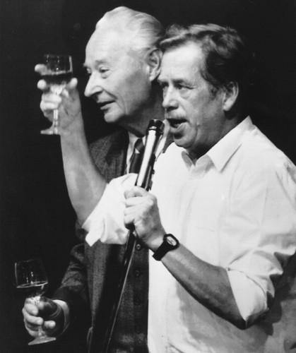 Вацлав Гавел и Александр Дубчек
