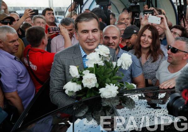 Саакашвили прилетел в Украину