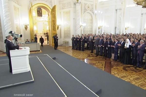 Журналисты подсчитали, что речь Путина прерывали аплодисментами 33 раза