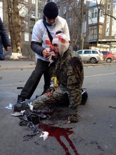 Раненые на Институтской