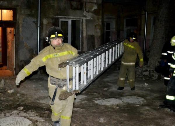 Спасатели оперативно прибыли на место происшествия