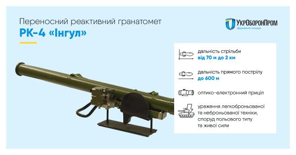 Переносной реактивный гранатомет РК-4 Ингул