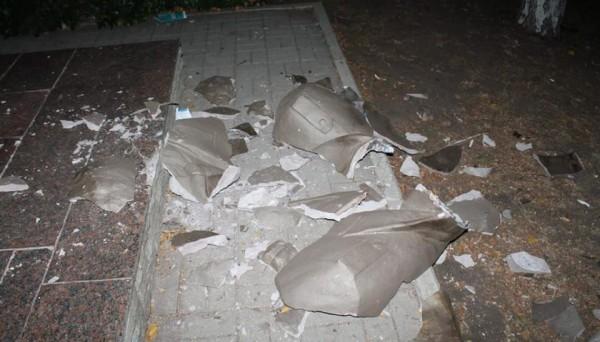 Жители города случайно разбили памятник