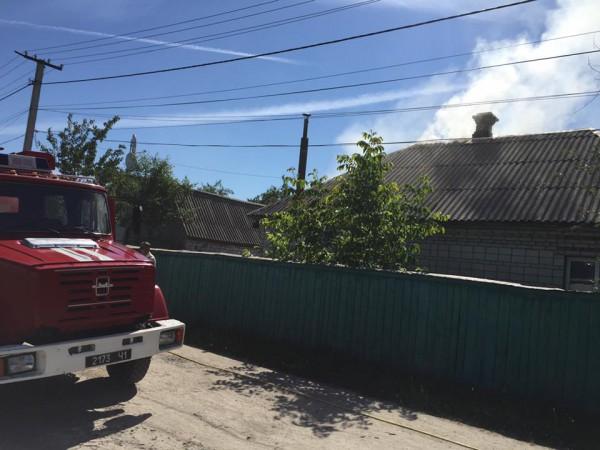 Пожар в Броварах