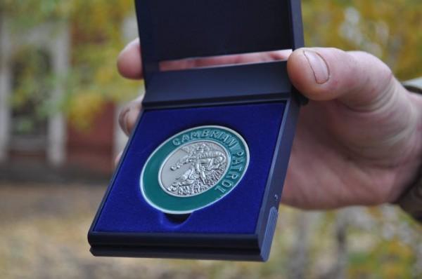 Серебряная медаль украинских военных