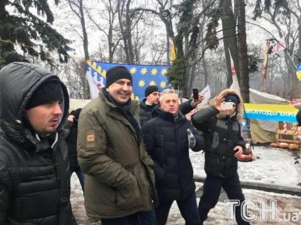 Саакашвили в палаточном городке