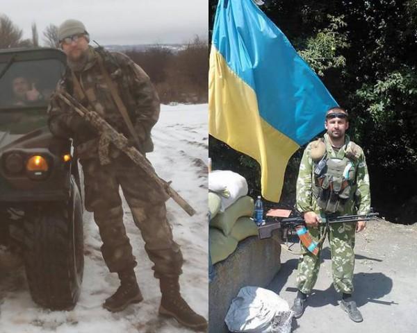 Убитые ветераны АТО (слева - Максим Иващук, справа - Алексей Вагнер)