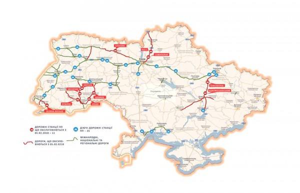 Карта дорог, которые патрулирует полиция