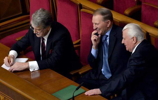 В заседании принимают участие экс-президенты Украины