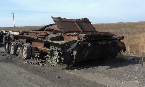 Танк Т-72 российского производства обнаружен в Марьинском районе