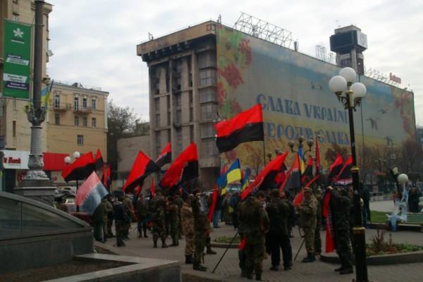 В центре Киева проходит Марш героев