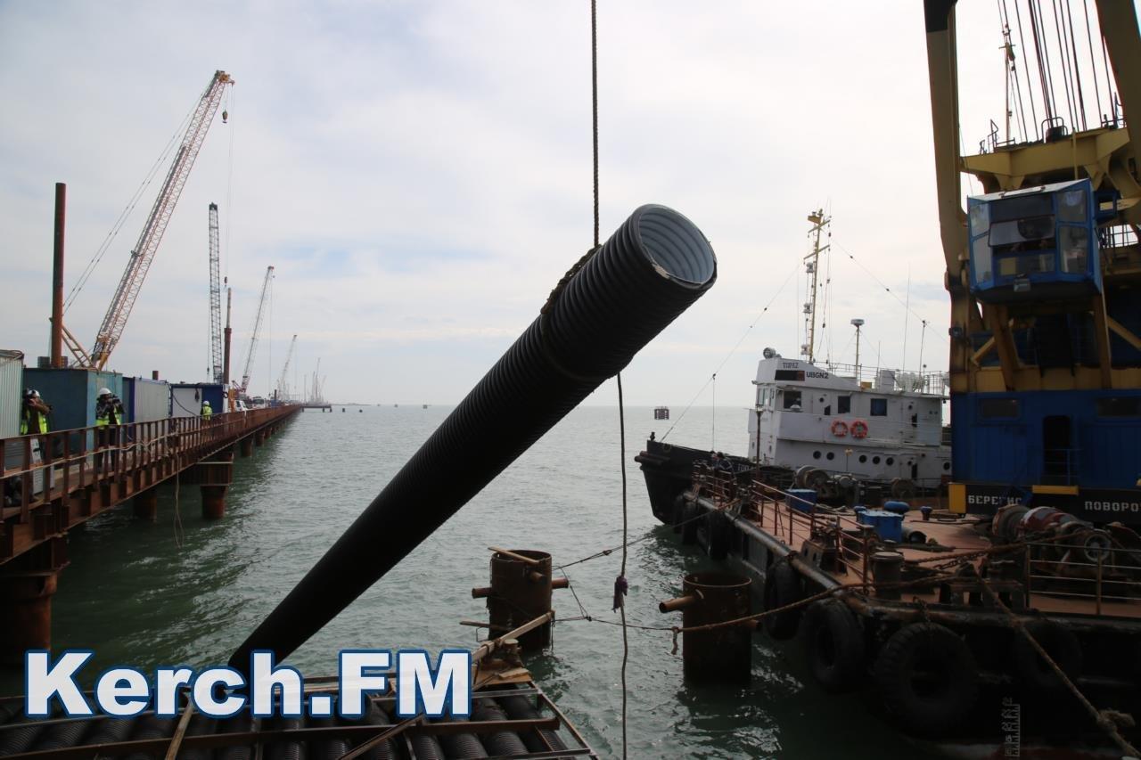 Pr-служба Керченского моста сказала почему гофротрубы состройки прибило кберегу