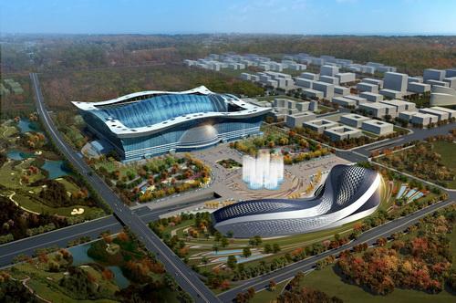 The New Century Global Center - самое громадное в мире здание