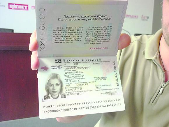 как выглядит загранпаспорт нового образца украина