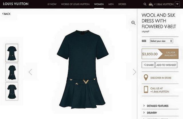 Платье - 3850 долларов