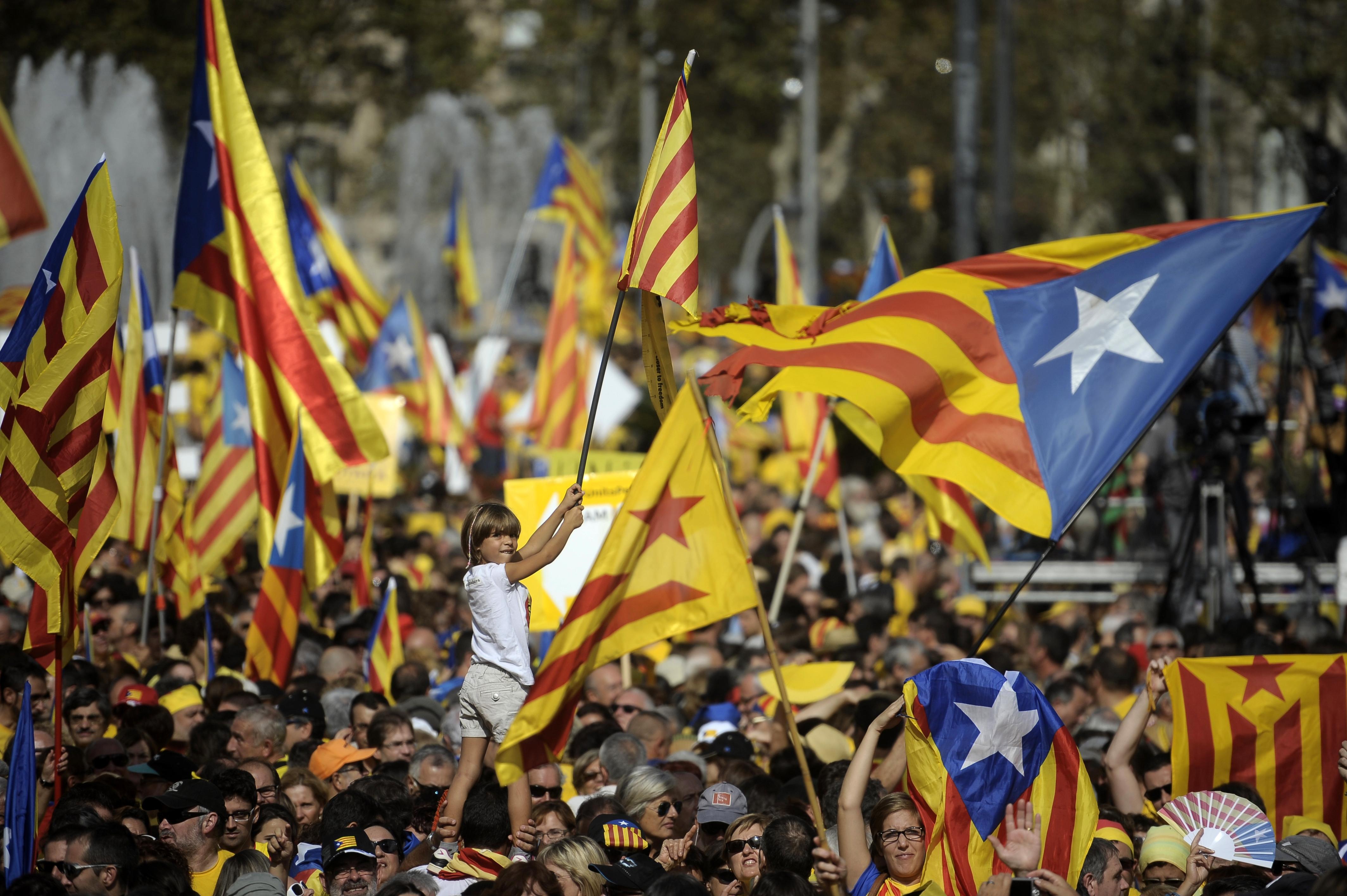 В Барселоне прошел миллионный митинг в поддержку независимости Каталонии