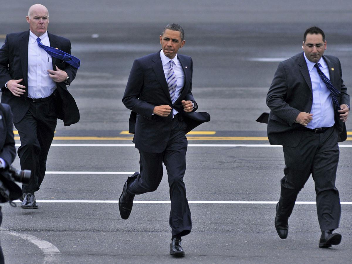 44-й президент США Барак Обама бегает при каждой возможности