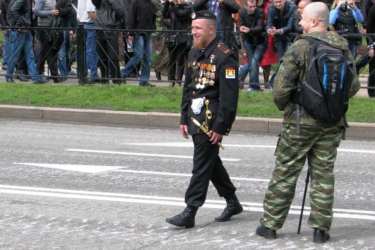 моторола на военном параде в Донецке