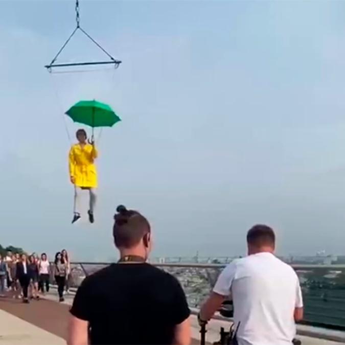 Ирина Верещук летает над Киевом