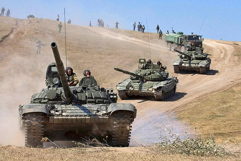 После захвата Гори российская танковая колонна вышла на подступы к Тбилиси 13 августа