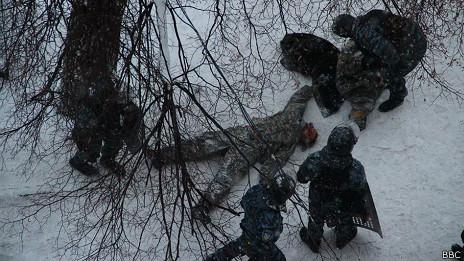 Застреленный протестующий на Грушевского