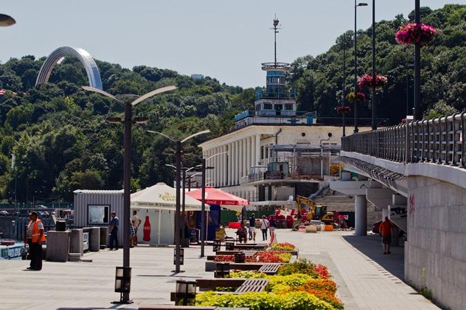 Киоски на Почтовой площади в Киеве