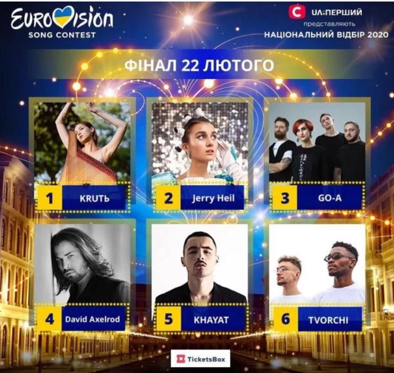 Финалисты украинского Евровидения 2020