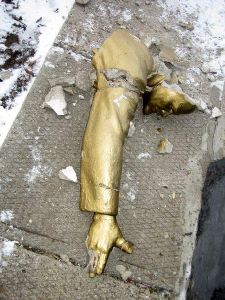 Памятник Ленину в Одесской области пострадал от вандалов
