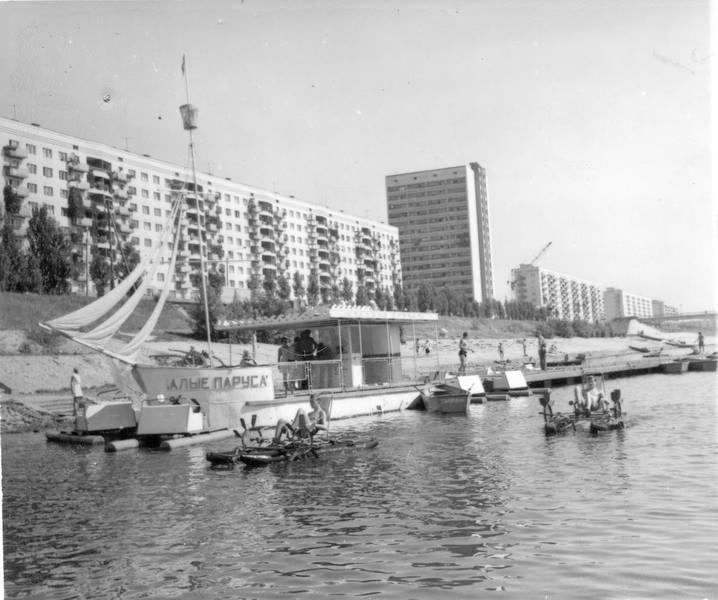 1969. Станция Алые паруса на Русановке