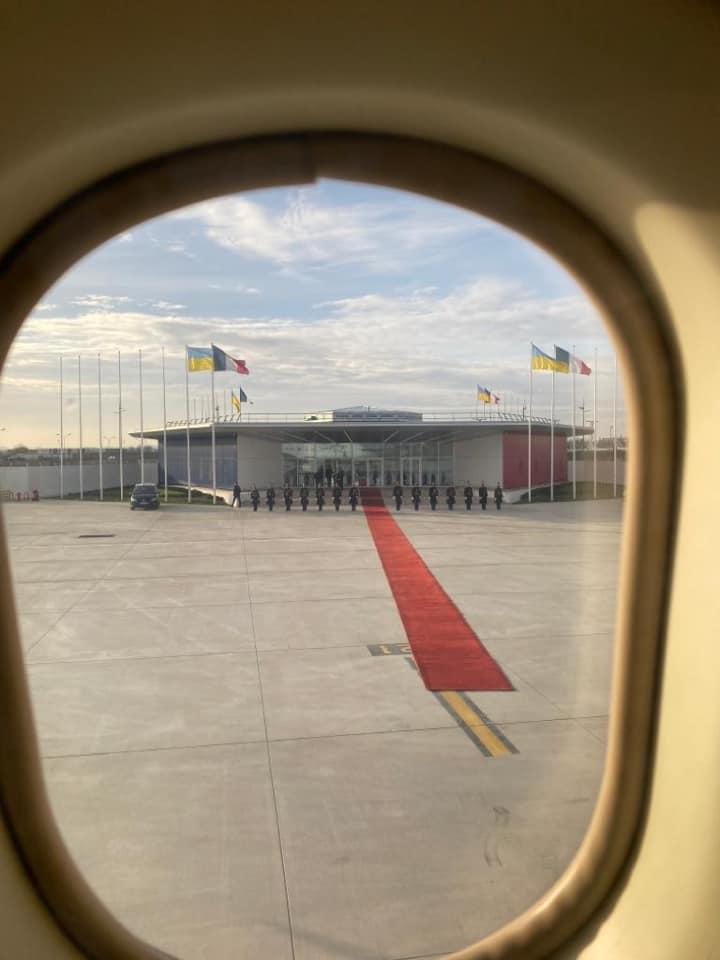 Фото из самолета в Париже