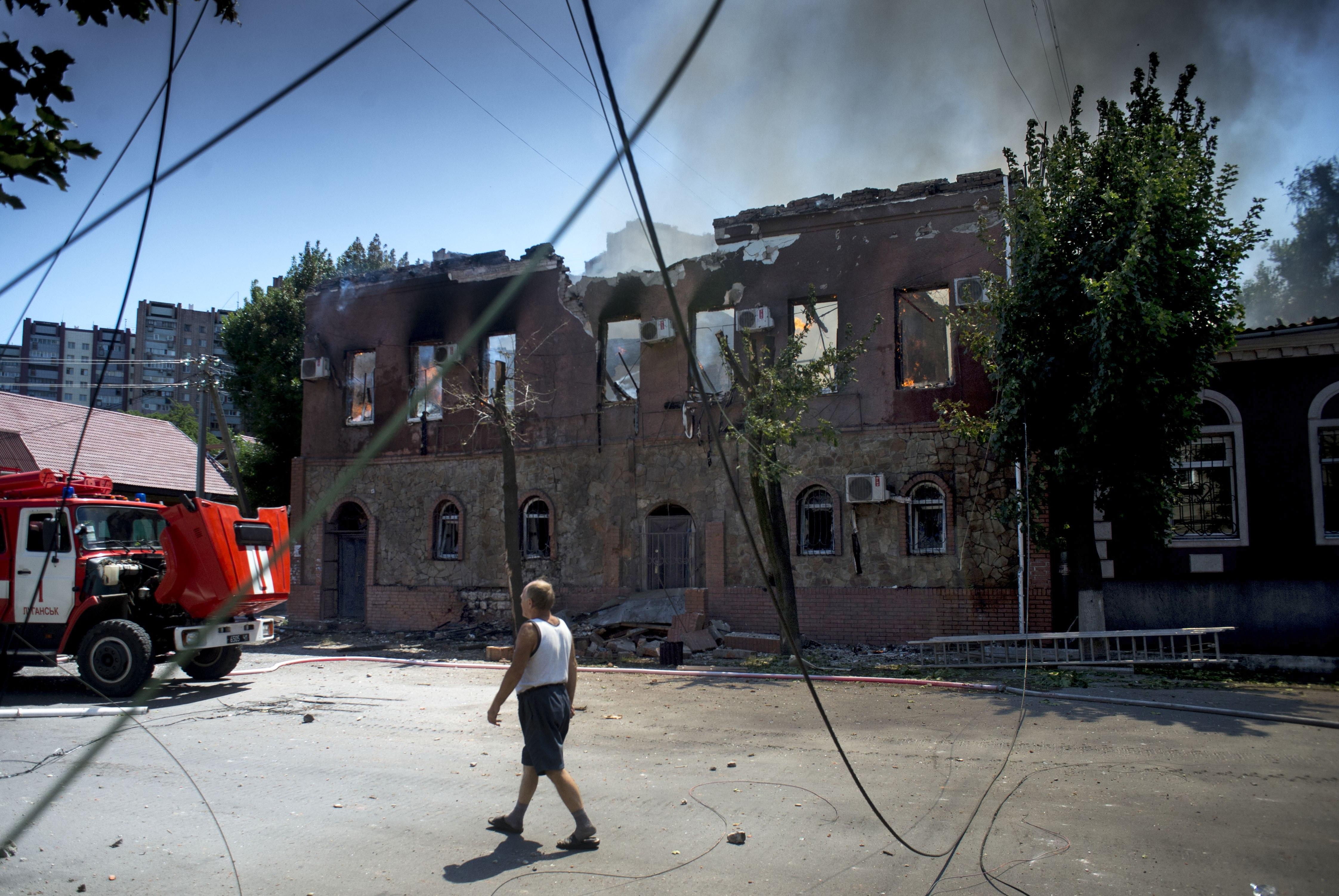 Фото луганска после обстрела по адресу 5