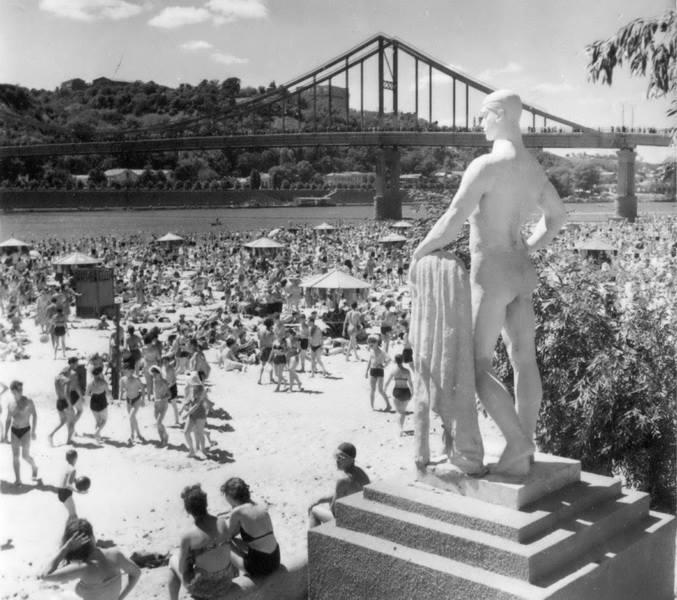 1957. Вот такая красота украшала Центральный пляж
