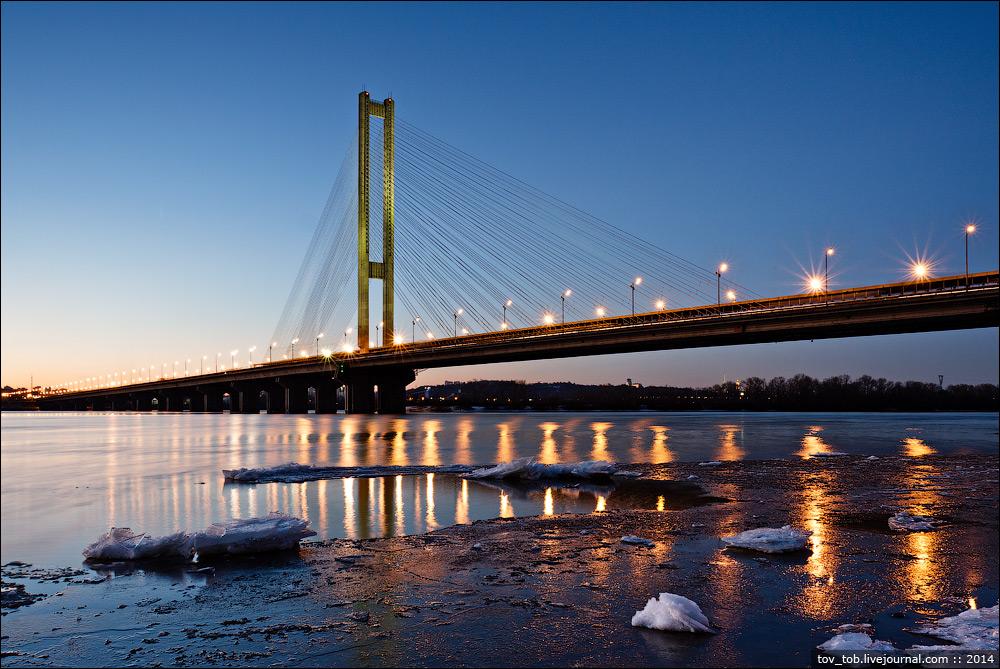 Мосты Киева рекорды и история Новости bigmir net Южный мост самый высокий автомобильный мост Украины